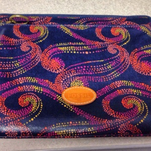 It may look all blue and swirly, but it's real purpose is to protect my journals!